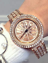 Women's Luxury Sparkle Stainless Steel Band Quartz Watch