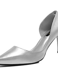 Women's Shoes Patent Leather Spring/Summer/Fall Heels Wedding/Party & Evening/Casual Stiletto Heel Glitter Silver