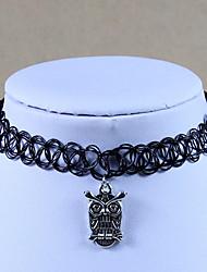Elastic Tattoo Choker Necklace Pendant Rope Retro Henna Necklace Jewelry Choker Collar Pendant Necklace Women Vampire