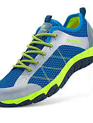 Unisex Sneakers Spring Summer Fall Winter Comfort Leather Hook & Loop Blue Yellow Red Light Green Hiking
