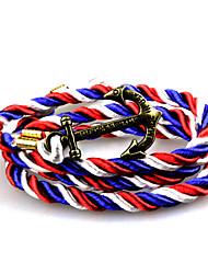 Punk Fashion Men's Bracelet Bronze Anchor Bracelet Alloy Bracelet Chain Bracelets / Wrap Bracelets Daily Christmas Gifts