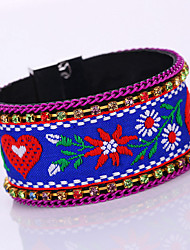 New Fashion Nation Embroidery Bohemia Magnet Alloy Buckle Bracelet