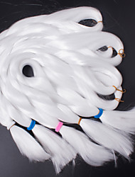 White Color Box Braids Hair Synthetic Hair Braiding Hair Extensions