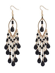 Bohemian Exaggerated Fashion Beads Tassel Earrings