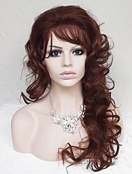 europe et aux états-unis avec la couleur de mélange 22 pouces floconneux brun foncé perruque de cheveux bouclés