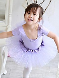 Ballet Outfits Children's Performance Tulle / Lycra Paillettes 1 Piece Short Sleeve Natural Dress