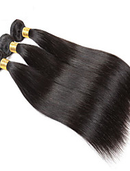 10A Brazilian Straight Hair With Closure 3 Bundles With Closures Cheap Human Hair With Closure Piece Straight Hair