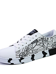 Casual Skateboarding Shoes Men's Fashion Print Sports Flats