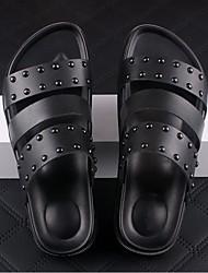 Sandals Cowhide Outdoor / Casual Platform Rivet Black