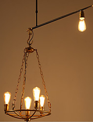 Contentment Restoring Ancient ways, Chinese Style Droplight Industrial Cafe Chandeliers