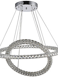 Newest LED Crystal Ceiling Pendant Lights Chandeliers Lamp with 2Rings 60W D6080CM CE FCC ROHS