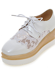 Women's Shoes Platform Creepers / Square Toe Oxfords Dress / Casual White