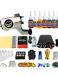 Simple Professional Color Coil Machine Tattoo Kit Equipment Pigment 7(Handle Color Random Delivery)