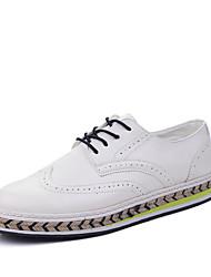 Extérieure / Décontracté / Sport-Noir / Marron / Blanc-Talon Plat-Bride de Cheville-Sneakers-Similicuir