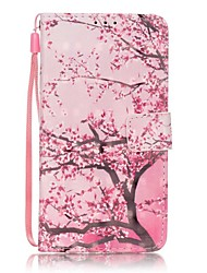 EFORCASE® Cherry Tree 3D Painted Lanyard PU Phone Case for Huawei P9lite