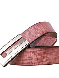 Men's Belts G Buckle Plaid Leather Steap Leisure Business Belt