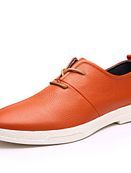 Men's Shoes Leather Wedding / Party & Evening / Casual Oxfords Wedding / Party & Evening  / Blue /