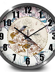 Retro Birds Hanging Home Furnishing Mute Quartz Wall Clock