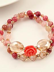 Fashionable Agate 21cm Round Strand Bracelets