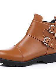 Women's Shoes  Fashion Boots / Motorcycle Boots / Round Toe Boots Office & Career / Dress / Casual Platform