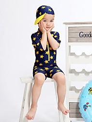 Boy's Sports Print Swimwear,Polyester All Seasons Blue / Yellow