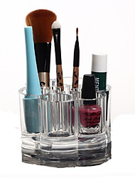 Acrylic Transparent Cosmetics Storage Stand Makeup Brush Pot Cosmetic Organizer