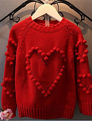 Maglione e cardigan Girl Casual Tinta unita Cotone Primavera / Autunno Rosa / Rosso
