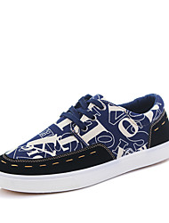 Men's Shoes Casual Canvas Fashion Sneakers Blue/Dark Blue/Burgundy