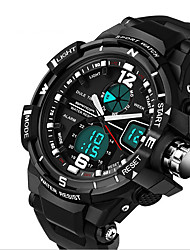 Hommes Montre de Sport Montre Militaire Montre Tendance Numérique LCD Calendrier Chronographe Double Fuseaux Horaires Noctilumineux