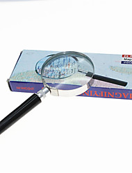 Handheld 6X 60mm Metal Round Glass Magnifier