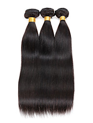 3 bundles Brazilian Straight Human Hair Weave Extensions 300g Full Head Set 8inch-28inch