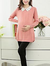 Blazer Maternité Long Manches Longues Chic de Rue Coton