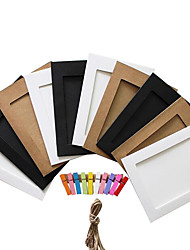 "5 ""10 pcs random color paper photo frames"