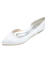 Women's Spring Summer Fall Satin Wedding Casual Party & Evening Flat Heel Black Blue Pink Purple Ivory White Silver