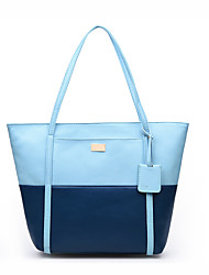 Women PU Formal / Casual / Office & Career / Shopping Tote Blue / Yellow