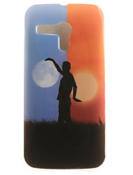 Scenery Painting Pattern TPU Soft Case for Motorola Moto G XT1028/XT1031/XT1032