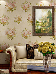 Contemporary Wallpaper Art Deco 3D Romantic Garden Wallpaper Wall Covering Non-woven Fabric Wall Art
