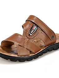 мужская обувь пу случайные сандалии случайные плоские пятки ходьбе другие черный / коричневый / желтый