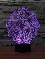 particulières 3d lumières de sculpture abstraite table de forme lampe d'art chambre ornement nuit de changement de couleur de lumière
