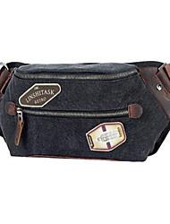 Herren PVC Formell Hüfttasche Schwarz