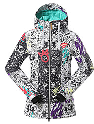 GSOU SNOW white black fleece ski jackets/ women ladies wearable ski-wear /snowboard/double snowboard jackets