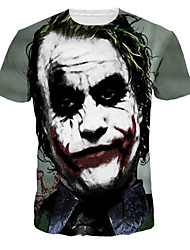 Herren Freizeit T-shirt - Druck Kurz Polyester