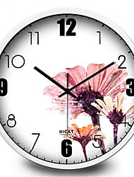 Simple And Elegant Purple Ink Home Furnishing Decorative Mute Quartz Wall Clock