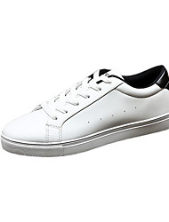 Men's Shoes PU Casual Sneakers Casual Walking Flat Heel Others / Lace-up Black / White / Black and White