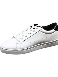 Chaussures Hommes-Décontracté-Noir / Blanc / Noir et blanc-Polyuréthane-Sneakers