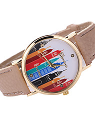 Women's Colorful Case Leather Band Analog Quartz Watch Wrist Watch Fashion Watch Cool Watches Unique Watches