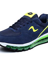 Men's Spring Fall Comfort Suede Outdoor Casual Flat Heel Black Blue Green Multi-color Orange Running