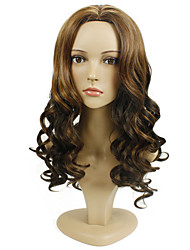 Long Wave Mix Color Synthetic Wig for Women