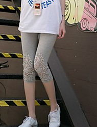 Girl's Casual/Daily Print Pants,Cotton Summer Pink / White / Gray