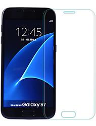 2.5d Asling borde curvo a prueba de explosiones película de la pantalla de vidrio templado para Samsung S7 con galvanizado